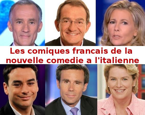 Les comiques francais du JT