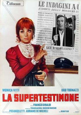 La supertestimone 1971 Franco Giraldi avec Monica Vitti & Ugo Tognazzi